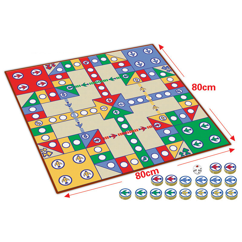 16pcs Chessmen Board Game Flying Chess Carpet Kids Classic Flight Game Toy Classic Puzzle Game Enjoy Family Fun Gift For Kid