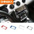 SHINEKA Auto Styling GPS Panel Abdeckung Navigation Bildschirm Rahmen Media Bildschirm Abdeckung für Ford Mustang 2015-2017