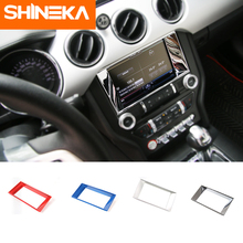 цена на Mustang GPS Panel Cover Navigation Screen Frame GPS Screen Cover for Ford Mustang 2015+