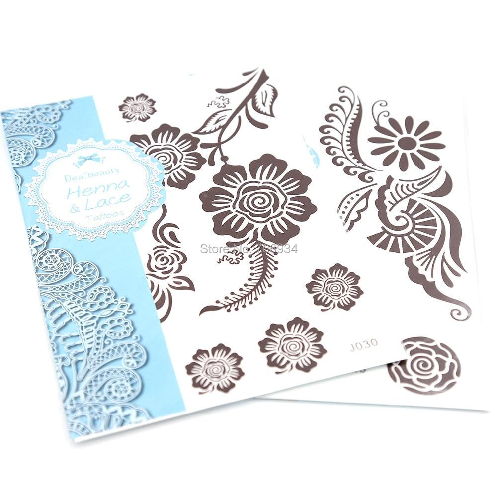 Henna Tattoo Paste Amazon: New Temporary Tattoos White Henna Tattoo Paste Sticker 6