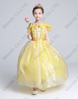 Kids Fair BELLA Girls Christmas Costumes Long Dresses Beauty And The Beast Cosplay Clothing Children Princess