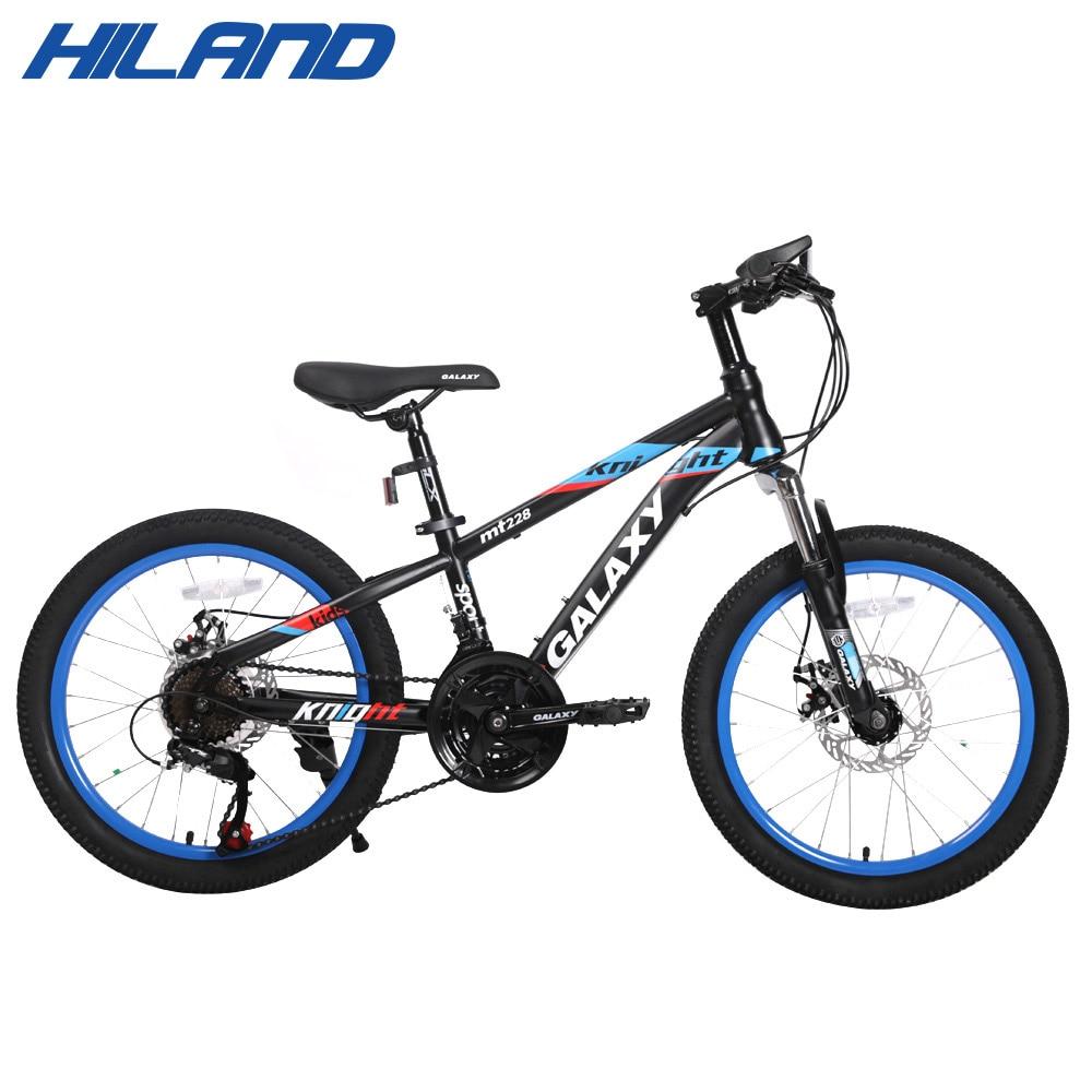 Hiland 20 pouces 21 vitesse vélo d'étudiant vélo jeune vélo pour enfants garçon vélo VTT pour les étudiants