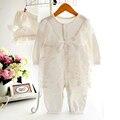 Baby girl одежда новое прибытие принцесса формальное dress рябить младенческой комбинезон младенец шнурка девушки комбинезон новорожденного bebe костюм