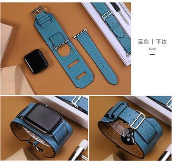 Serie 5/4/3/2/1 bucle de cuero genuino para Apple Watch brazalete correa ajustable de 42mm para iWatch cuero 38mm 40mm 44mm