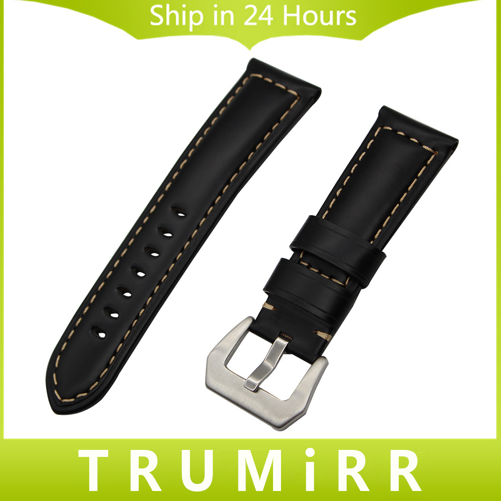 22/24/26mm Italy Calf Genuine Leather Watchband for Panerai PAM Watch Band Stainless Steel Tang Buckle Strap Wrist Belt Bracelet new arrive top quality oil red brown 24mm italian vintage genuine leather watch band strap for panerai pam and big pilot watch