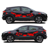 2Pcs Car Accessories 2018 New Creative Car Sticker For Honda Vezel Funny DIY Decal Sticker Car Styling 2 Color
