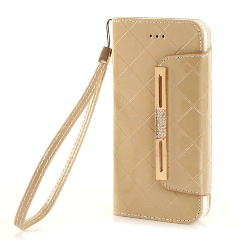 Luxury Bag Diamond Design Leather Case For iphone5s Women Handbag Flip Purse Cover For iPhone 5 5S 5SE Phone Wallet Case