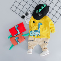 New Brand Cartoon Dinosaur Newborn Outfit For Baby Boys Clothes Set O neck Collar T shirt+Pants 2pcs Casual Boy Infant Tracksuit
