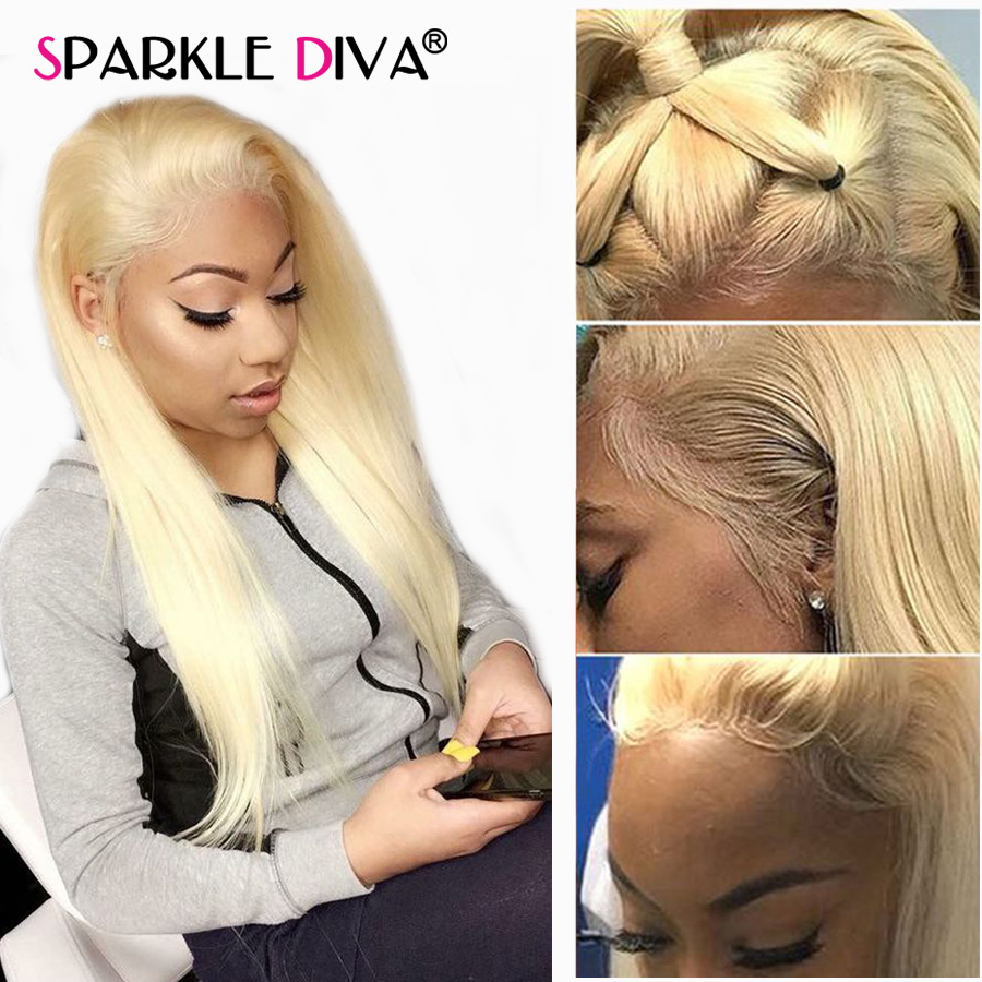 613 Lace Front Wig For Black Women Honey Blonde Gluless Human Hair Lace Frontal Wig Pre