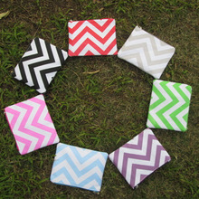 Wholesale Embroiderable Chevron Makeup bag – Free Shipping Chevron Pouch Bridesmaid clutches – Small Cosmetic bags DOMIL-1010106