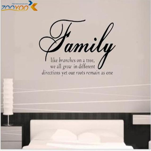 aliexpress : buy family like branches home decor creative quote