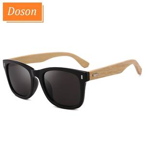 Vintage Sunglasses Mirror Driving Nail-Decoration Oculos-De-Sol Wood-Shades Classic Bamboo