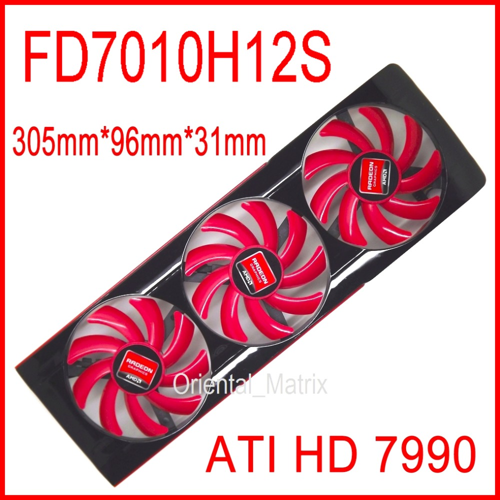 все цены на Free Shipping FD7010H12S DC 12V 0.35A For AMD ATI HD 7990 Video Card VGA Fan HD7990 Graphics Card Fan 4 Wire Cooling Fan