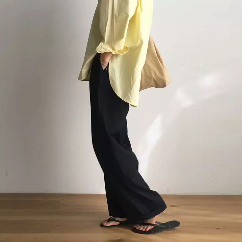 Image 4 - TWOTWNSTYLE ماكسي السراويل للنساء عالية الخصر سستة جيب الصيف كبيرة الحجم سراويل طويلة 2019 موضة أنيقة الملابس-في السراويل وبناطيل الكابري من ملابس نسائية على AliExpress