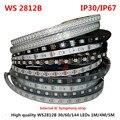 1/4/5 metros WS2812B sinfónica a todo Color 30 60 144 píxeles LED/metro SMD 5050 incorporado luces de tira de 5 V direccionables programable IC