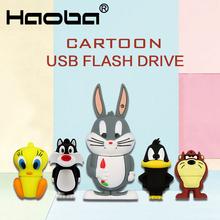 2018 HOT Cartoon Looney Tunes pendrive 16GB usb flash drive 32GB Lovely pen drive 8GB 4GB  64gb Usb2.0 gift U disk cle usb