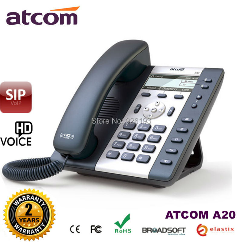 все цены на ATCOM A20 2 SIP Line Entry-level business IP Phone Dual core CPU, HD voice, backlight LCD Desktop office VoIP telephone онлайн