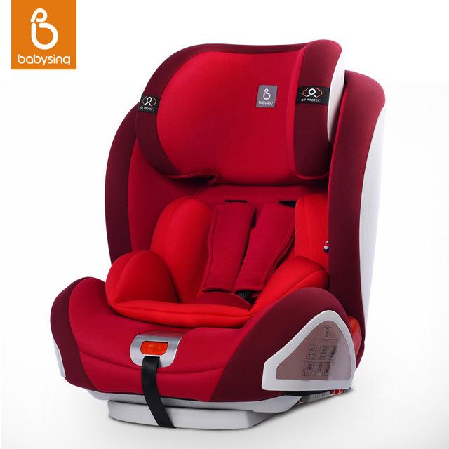 Assento de Carro Do bebê Para 9 Meses-12 Anos Kid & Infantil ISOFIX & pontos TRAVA Do Conector Ajustável Criança Assento de Segurança para crianças em Carro Harnes