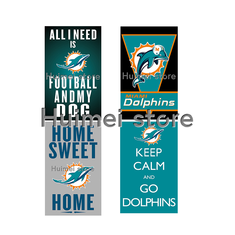 low priced 74669 b370d NF*L football jersey flag with metal rings 3x5ft Miami ...