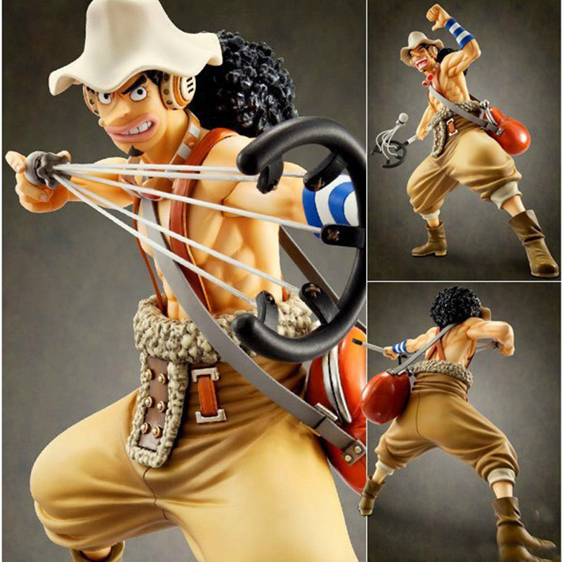 23cm One Piece Pop Usopp Action Figure Luffy The Straw Hat Pirates's Sniper Anime Figures PVC Collectable Model Toys Gifts WX315