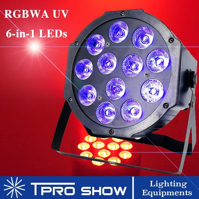 12x12W Slim LED Par Wash Light RGBWA UV Dmx LED Flat Lighting Plastic DJ Lighting Equipment