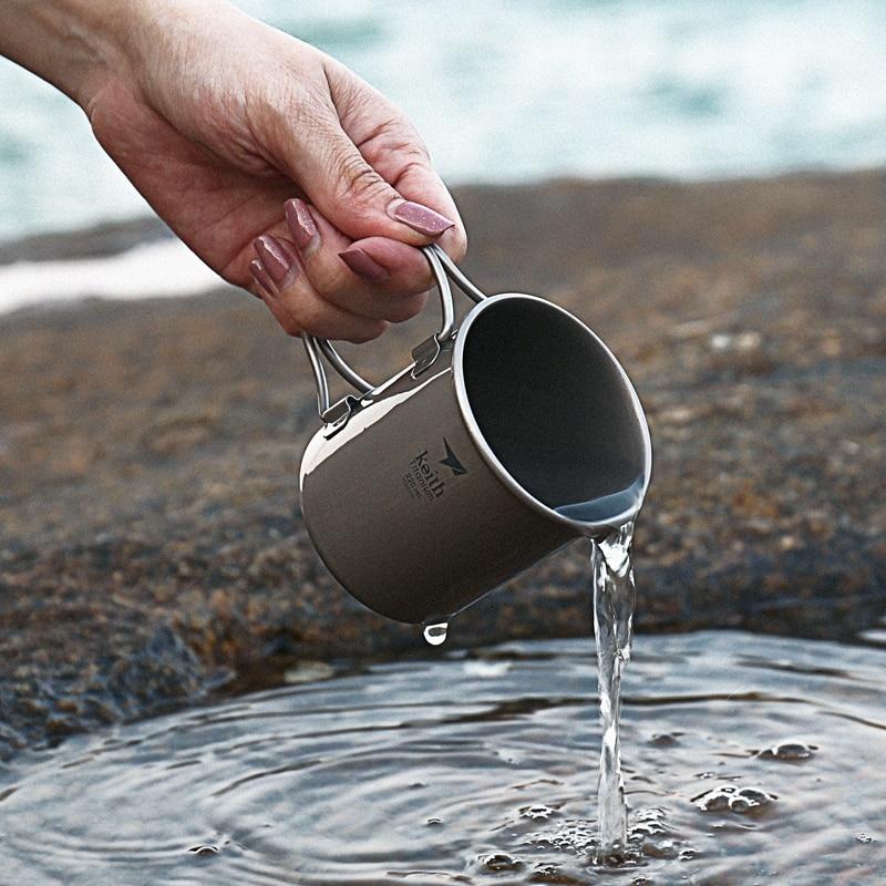 Keith Titanium Folding Água Canecas Drinkware Copos