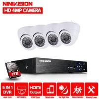 4ch Super HD 4MP CCTV Camera H 264 Video Recorder DVR AHD Home Indoor Security Camera