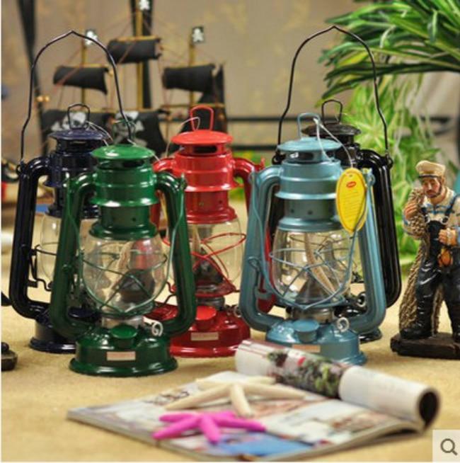 Mediterranean Style Camping Kerosene Lamp Manualidades Windproof Decoration Vintage Home Decor