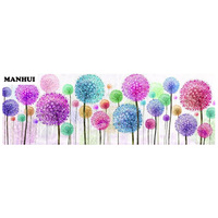 Diamond Embroidery 5D DIY Diamond Painting Flower Dandelion Diamond Painting Rhinestone Cross Stitch Decoration AF087