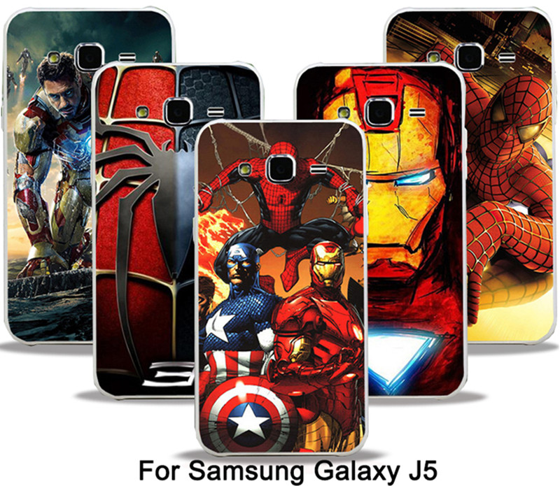 Marvel Avengers <font><b>Spider</b></font> <font><b>man</b></font> Dark Knight Hard <font><b>Case</b></font> Cover <font><b>For</b></font> <font><b>Samsung</b></font> <font><b>Galaxy</b></font> J5 J500 J500F Batman Superman S <font><b>logo</b></font> Captain America