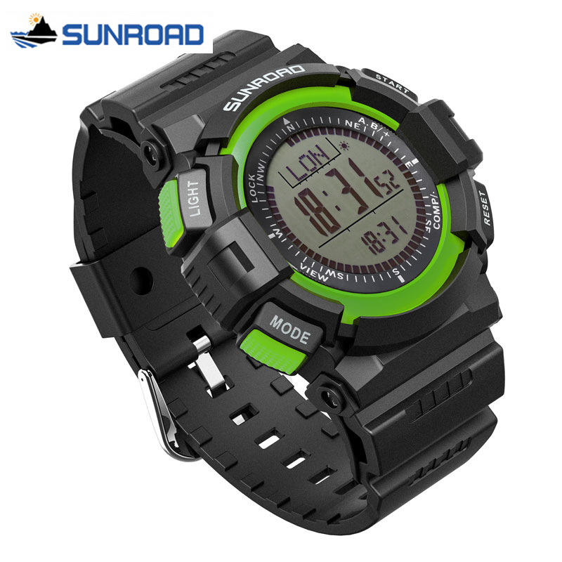 SUNROAD Sport Military Wrist Watch Mens Altimeter Barometer Compass Thermometer Weather Pedometer Digital Watch Clock Men Saat