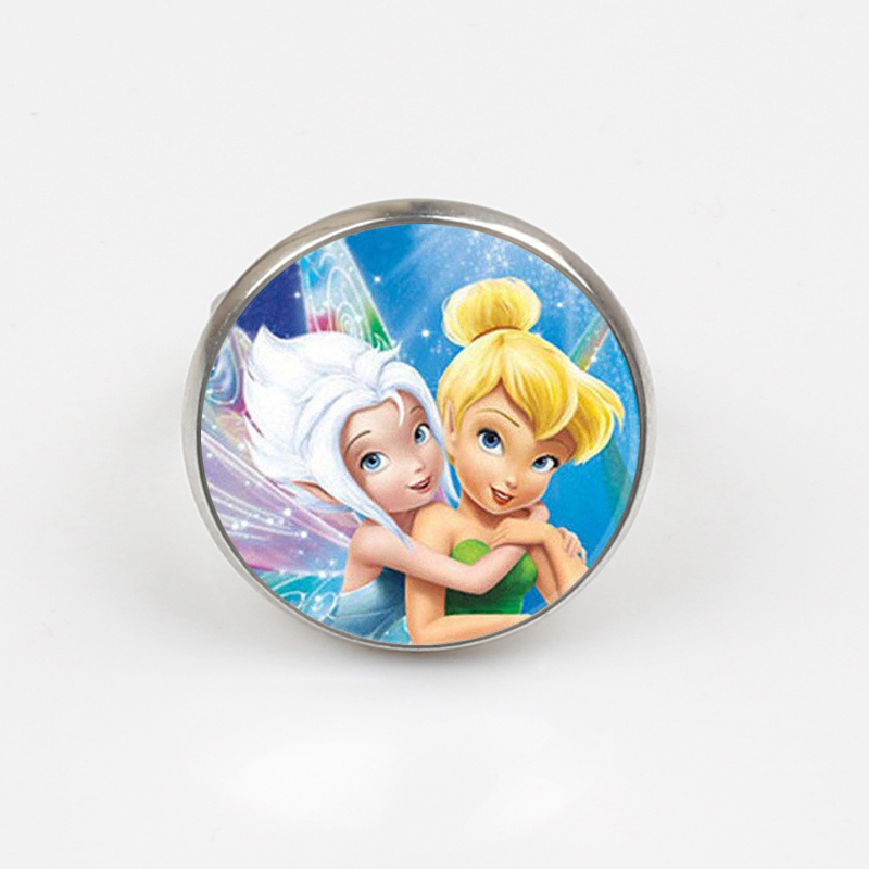 New Fashion Tinker Bell Ring Cute TinkerBell Ring Accessories for Child Girls Glass Cabochon Ring in Rings from Jewelry Accessories