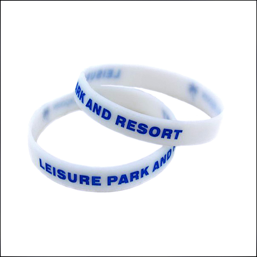 OneBandaHouse Custom Logo Glow in the Dark Silicone Wristband Bracelet