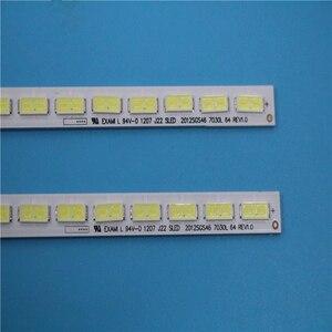 "Image 4 - 2 sztuk/partia dla 46 ""LJ64 03495A LTA460HN05 46EL300C 46HL150C podświetlenie LED bar sanki 2012SGS46 7030L 64 REV1.0 64 diody LED 570MM"