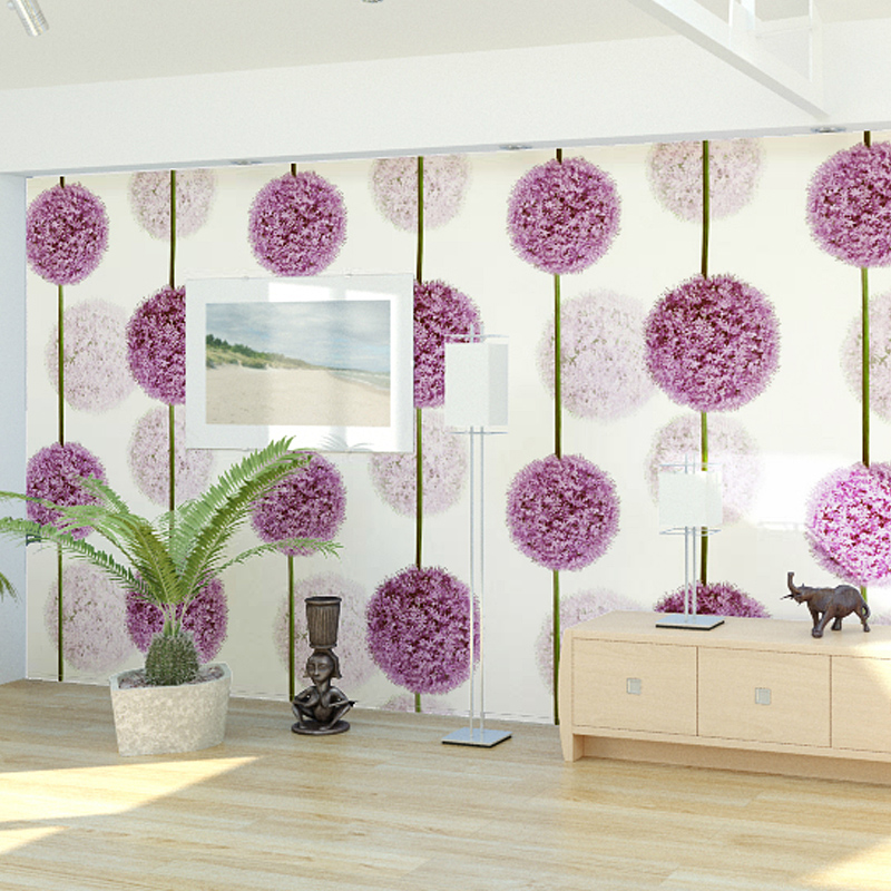 10m/roll PVC Wallpaper Romantic Dandelion Wallpaper Roll Sofa ...