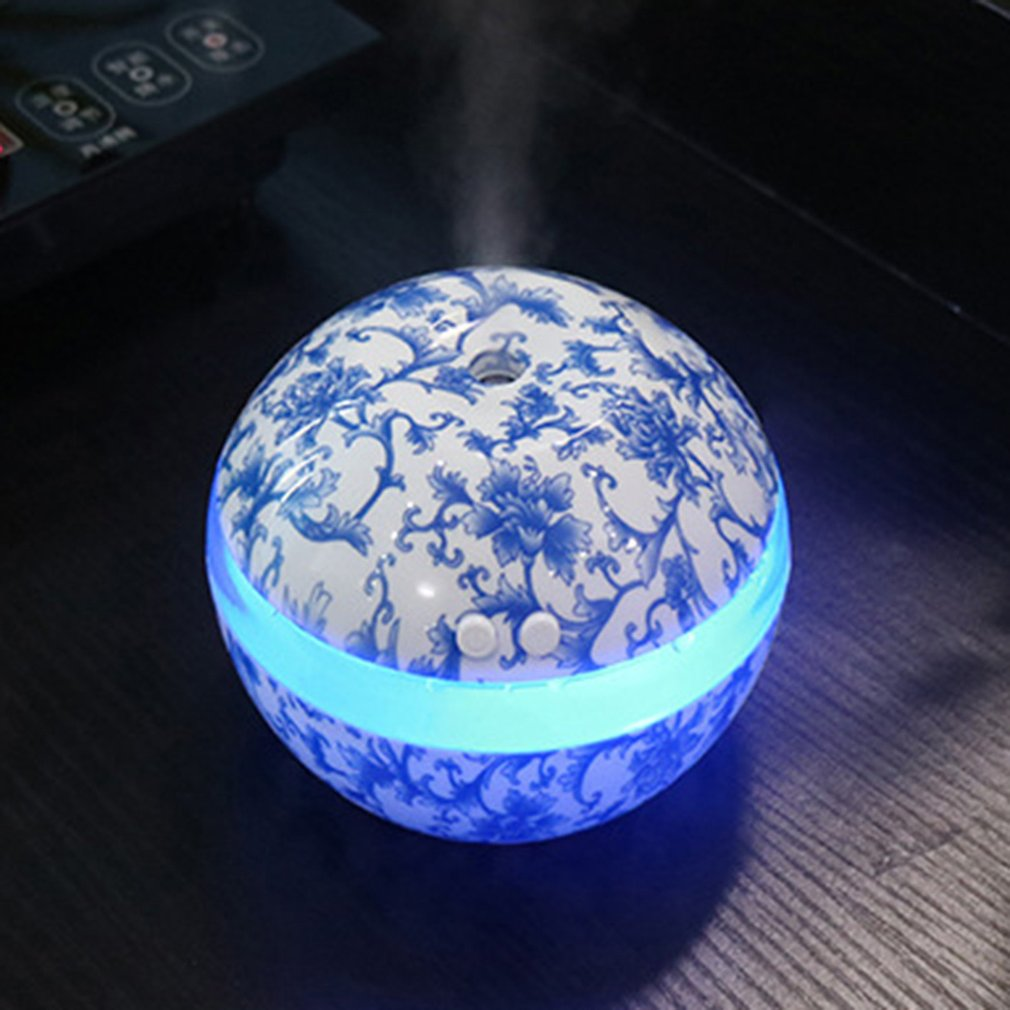 Humidifier Blue White Porcelain Ultrasonic Air Humidifier Aroma Essential Oil Diffuser Aromatherapy For Home Office SPA