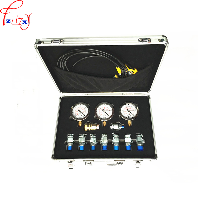 1pc Portable hydraulic test gauge mechanical digger pressure test hydraulic test box for excavator miniature pore water pressure gauge sensor model test small diameter resistance strain gage pressure box