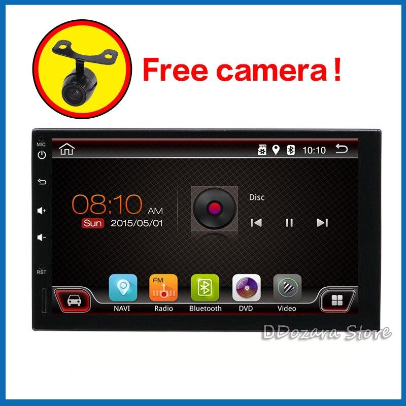 2 din autoradio lecteur cassette autoradio android 8.1 avec bluetooth subwoofer wifi caméra arrière et carte