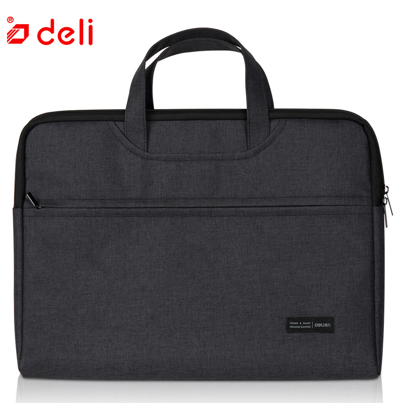 Deli Business Document Bag School File Folder Filing Bags Side Zipper Pocket Office School Bags Protable Business Briefcase