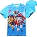 2016 Roupa Do Bebê Meninos T-shirt Verão Dos Desenhos Animados T Camisa Do Cão encabeça Tee Roupas Crianças Meninos Camisetas Meninas T Camisa Do Bebê roupas