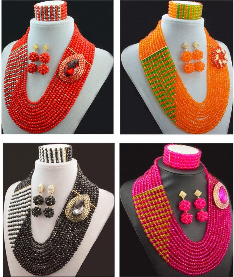 Splendid Nigeriano di Nozze Beads Africani Perline di Cristallo Gioielli Da Sposa Set Monili di Costume Africano Fissa Il Trasporto LiberoSplendid Nigeriano di Nozze Beads Africani Perline di Cristallo Gioielli Da Sposa Set Monili di Costume Africano Fissa Il Trasporto Libero