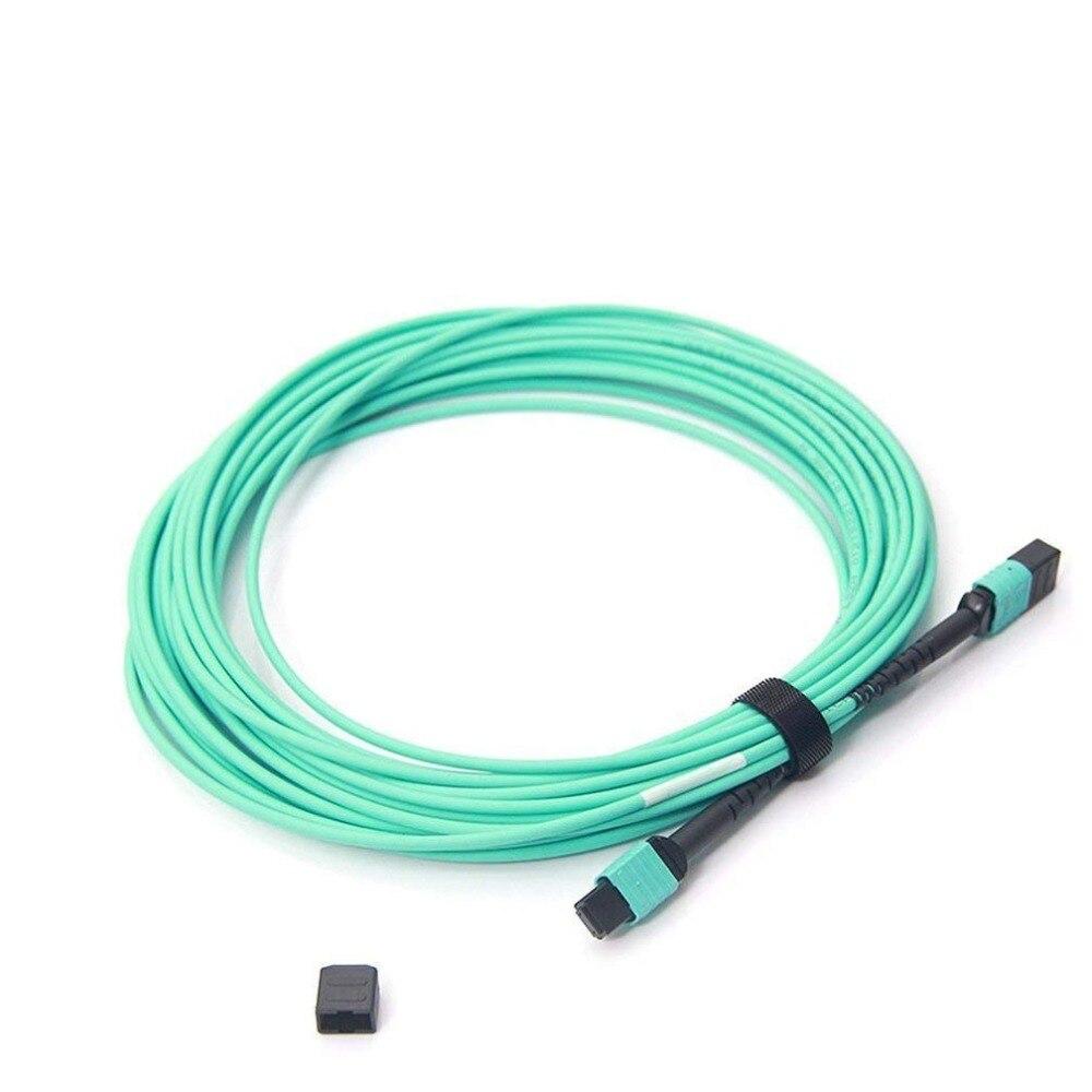 10Gtek 5 미터 (16.5feet) MPO-MPO 패치 코드, OM3 멀티 모드 - 통신 장비 - 사진 1
