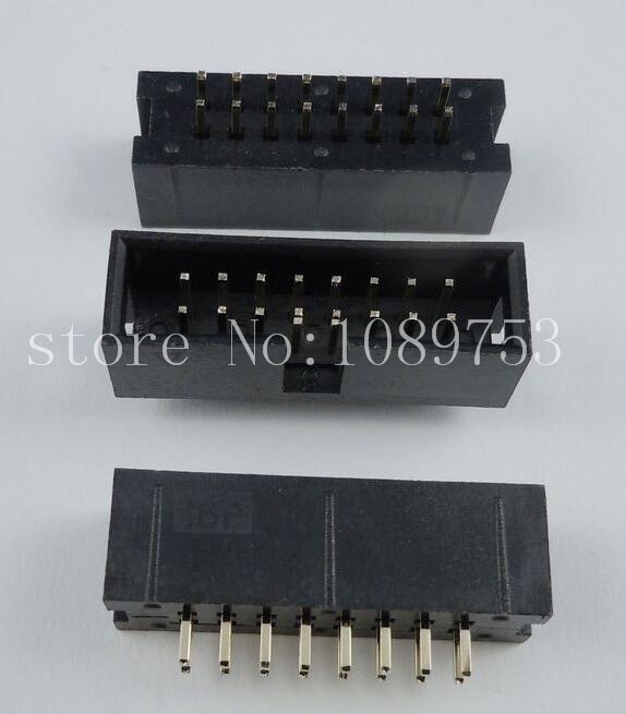 100pcs IDC Box header DC3 DC3-16P 2x8 16 pins 16P 2.54mm Pitch 100pcs idc box header dc3 dc3 6p 2x3 6 pins 6p 2 54mm pitch