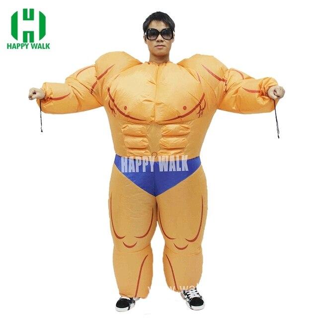 Erwachsene Halloween Schöne Fitness Lehrer Aufblasbare Muscle Mann ...