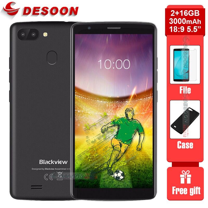 Купить Оригинал Blackview A20 pro смартфон 18:9 5,5 дюйма Android 8,1 двойной Камера 2 Гб Оперативная память 16 Гб Встроенная память MT6739 8MP 4G LTE мобильных телефонов на Алиэкспресс