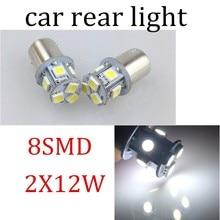 hot sale 10 pcs/lot BA15S 1.9W 8LED Door Clearance exterior Bulb Light Car Auto Lamp Tail Corner Parking White