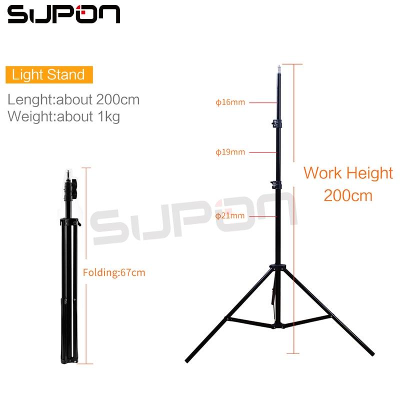 Supon SL-107 Photographic Lighting 384 Led Bi-color 3200K-5500K Dimmable Camera LED Selfie Ring Light