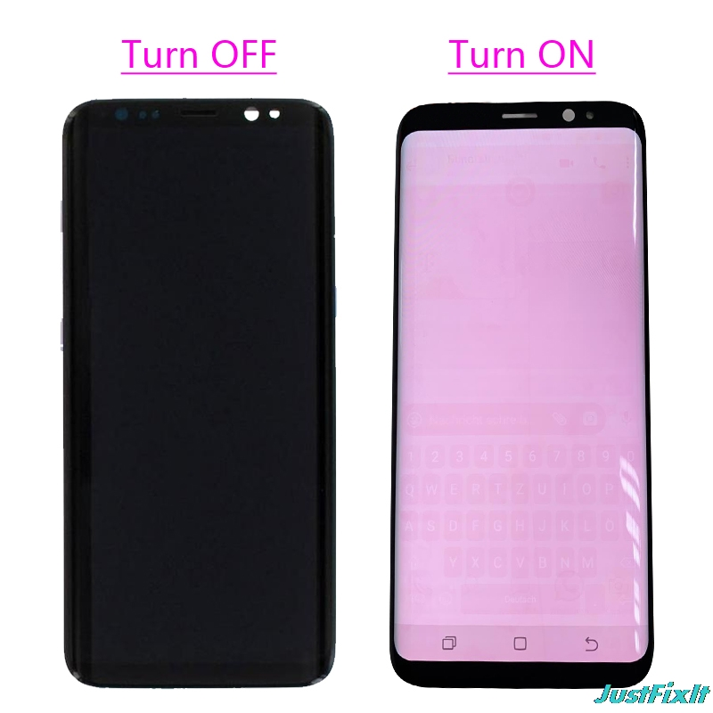 HTB1mpRVXwFY.1VjSZFnq6AFHXXag Super AMOLED For Samsung Galaxy S8 S8 plus G950 G950F G955fd G955F Burn-in Shadow Lcd Display With Touch Screen Digitizer Screen