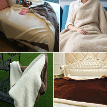2018 Flannel Blanket Coral Fleece Bedspread Solid Orange Color Adult Multi-Size Bed Sheets  Blankets