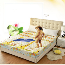 10 Choices Waterproof Jacquard Cloudy Mattress Cover Microfiber Protector Bed Bug Proof Pad for